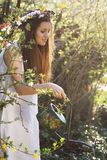 Jardineiro bonito do vintage Fotos de Stock Royalty Free