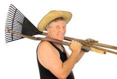 Jardineiro com ferramentas Foto de Stock Royalty Free