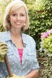 Jardineiro da mulher imagem de stock