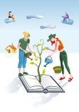 Jardineiro dos livros ilustração stock