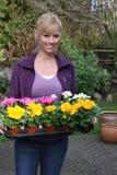 Jardineiro feliz imagem de stock