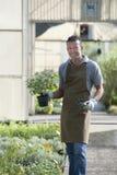 Jardineiro no trabalho Imagem de Stock