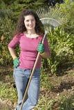 Jardineiro que relaxa Fotografia de Stock Royalty Free