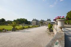 Jardinen de Luxembourg i Paris. Royaltyfria Bilder