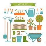 Jardinería Herramientas de jardín r ilustración del vector
