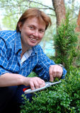 Jardinero de las mujeres Fotografía de archivo
