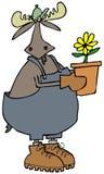 Jardinero de los alces de Bull ilustración del vector