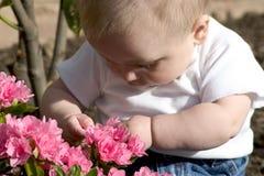 Jardinero del bebé Imágenes de archivo libres de regalías