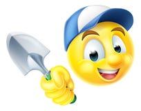 Jardinero Emoticon Emoji con la paleta Fotografía de archivo