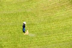 Jardinero en hierba Imagen de archivo libre de regalías