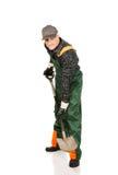 Jardinero maduro con una espada Foto de archivo