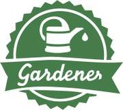 Jardinero que cultiva un huerto Button Imagen de archivo libre de regalías