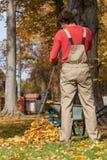 Jardinero que rastrilla para arriba Imágenes de archivo libres de regalías