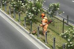 Jardinero urbano Fotos de archivo