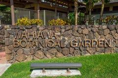 Jardines botánicos de Wahiawa Foto de archivo libre de regalías