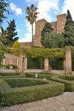 Jardines de Alcazaba fotografía de archivo libre de regalías