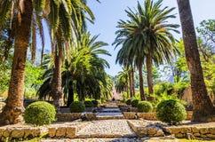 Jardines de Alfabia Foto de archivo libre de regalías