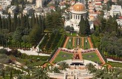 Jardines de Baha'i en resorte fotos de archivo