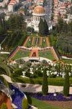 Jardines de Baha'i en resorte fotografía de archivo