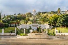 Jardines de Bahai, ciudad de Haifa, Israel Fotografía de archivo