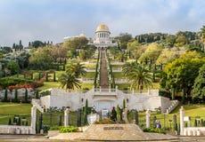 Jardines de Bahai, ciudad de Haifa, Israel Imagenes de archivo