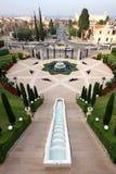 Jardines de Bahai en Haifa, Israel Foto de archivo libre de regalías