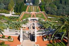 Jardines de Bahai. Haifa. Israel. fotos de archivo libres de regalías