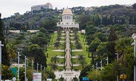 Jardines de Bahai haifa Israel Imagen de archivo libre de regalías