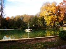 Jardines de Borghese del chalet, Roma Foto de archivo
