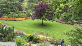 Jardines de Butchart Imagen de archivo libre de regalías