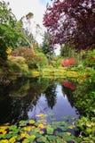 Jardines de Butchart en la isla de Vancouver Imagenes de archivo