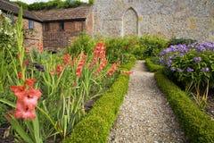 Jardines de cocina en la abadía de Forde Imagen de archivo libre de regalías