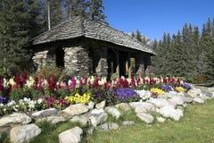 Jardines de la cascada, Banff Imagen de archivo libre de regalías