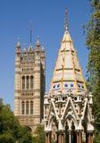 Jardines de la torre de Victoria, Westminster Foto de archivo