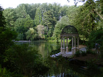 Jardines de Longwood. Gazebo foto de archivo