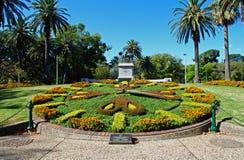 Jardines de Melbourne y reloj floral Imagen de archivo libre de regalías