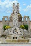 Jardines de Mendez Nunez nella città di Coruna della La, Galizia, Spagna fotografia stock