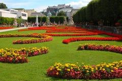 Jardines de Mirabell en Salzburg Foto de archivo libre de regalías