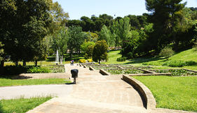Jardines de Mosén Cinto Verdaguer Royalty Free Stock Images