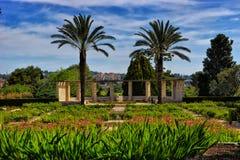 Jardines de Ramat Hanadiv en Zihron Yaakov Foto de archivo libre de regalías