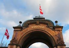 Jardines de Tivoli en Copenhague Foto de archivo libre de regalías