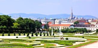 Jardines de Viena fotografía de archivo