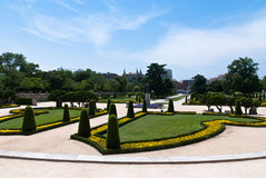 Jardines del Buen Retiro in Madrid, Spain. The Jardines del Buen Retiro or Parque del Buen Retiro or simply El Retiro, is the main park of the city of Madrid Royalty Free Stock Images