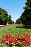 Jardines del Buen Retiro in Madrid, Spain. The Jardines del Buen Retiro or Parque del Buen Retiro or simply El Retiro, is the main park of the city of Madrid Royalty Free Stock Photos