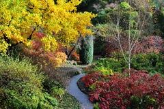 Jardines del butchart del otoño Imágenes de archivo libres de regalías