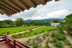 Jardines del castillo de Mstsumoto Foto de archivo