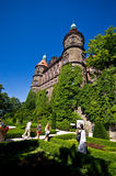 Jardines del castillo Polonia de Ksiaz Foto de archivo libre de regalías