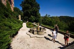 Jardines del castillo Polonia de Ksiaz Fotos de archivo