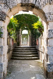 Jardines del chalet Vizcaya en Miami, la Florida Fotos de archivo libres de regalías