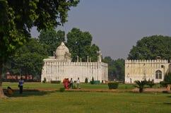 Jardines del fuerte rojo, Delhi, la India Fotografía de archivo libre de regalías